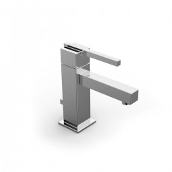 Soqquadro single lever washbasin mixer