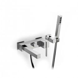 Soqquadro rubinetto miscelatore per vasca completo di accessori