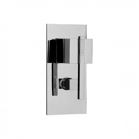 Soqquadro concealed shower mixer with diverter