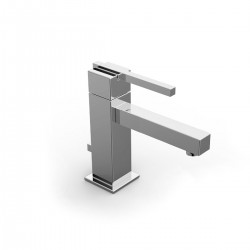 Soqquadro single lever washbasin mixer - medium spout