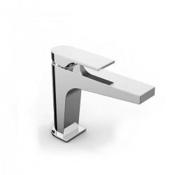 100 rubinetto miscelatore monocomando per lavabo con bocca d'erogazione media