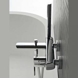Tango rubinetto miscelatore per vasca completo di accessori