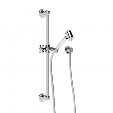 Complete sliding rail with wall outlet and shower set SALIVIKCOMPL