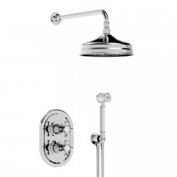 Concealed thermostatic valve with 2 alternative exits with shower set Imperial 25950R2SOFFKIT