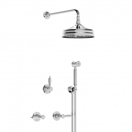 Concealed shower combination with overhead shower and handshower set Imperial 15750RSOFFKIT