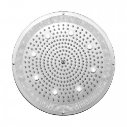 Shower heads in Swarovski Elements finishing for false ceiling installation Dream Led Lights H37454-050