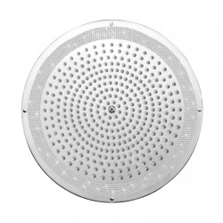 Shower heads in Swarovski Elements finishing for false ceiling installation Dream Led Lights Bossini H38458-050