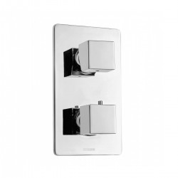Miscelatore termostatico 2 uscite 2 pomoli Cube Bossini Z00101/Z00061