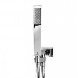 Doccetta duplex quadrata con presa d'acqua girevole Cube Bossini C13022