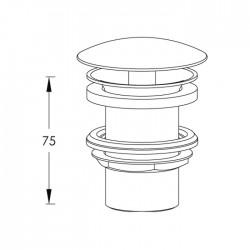 Piletta a scarico libero per lavabo senza foro troppo-pieno Ritmonio RCMB030H2