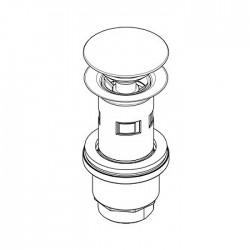 Piletta Clic-Clac in acciaio inox per lavabo senza foro troppo-pieno Ritmonio 78Q002