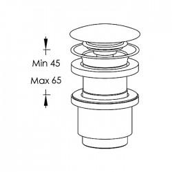 Piletta Clic-Clac per lavabo senza foro troppo-pieno Ritmonio E0BA0176H2SF
