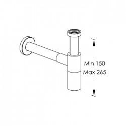 Sifone con tubo a muro Ritmonio RCMB027