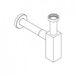 Sifone squadrato con tubo  a muro Ritmonio RCMB027Q