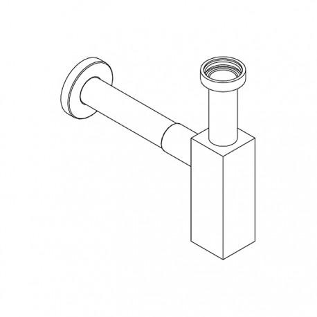 Squared trap with wall mounted tube Ritmonio RCMB027Q