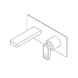 Built-in single lever basin mixer Nastro Ritmonio U0BA8013