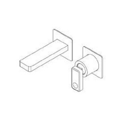 Built-in single lever basin mixer without plate Nastro Ritmonio U0BA8013SP