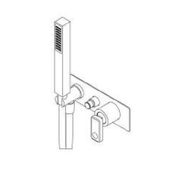 Miscelatore monocomando incasso per doccia/vasca Nastro Ritmonio U0BA8436