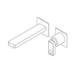 Built-in single lever basin mixer without plate Nastro Ritmonio U0BA8014SP