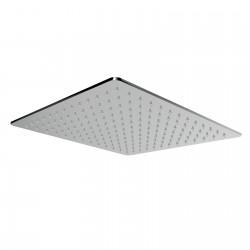 Soffione doccia orientabile in acciaio inox 200x200 mm Ritmonio 75S014