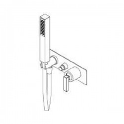 Built-in single lever bath mixer Ritmonio H0BA1436