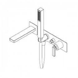 Built-in single lever bath mixer Tetris Ritmonio P0BA5438