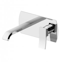 Color basin mixer wall installation with inspectable box 8035