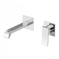 Ely rubinetto per lavabo incasso a muro senza placca leva colorata e scatola ispezionabile GBOX 8837