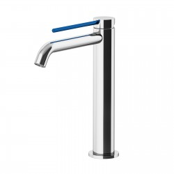 Circle Two basin mixer with adjustable waste, with manual plug, flex inox, spout 155 mm 9146