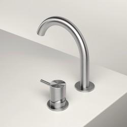 Single lever washbasin mixer with revolving spout Z316 Inox Zazzeri 33001108A02