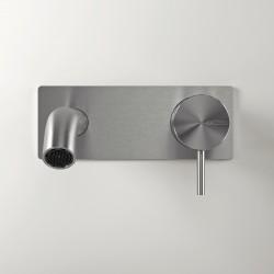 Z316 Inox miscelatore a parete per lavabo con placca completo