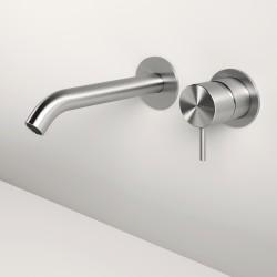 Z316 Inox miscelatore a parete per lavabo completo