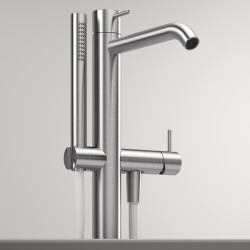 Z316 Inox column-mounted bathtub jet with handshower