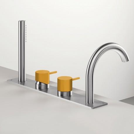 4-hole bathtub set Z316 Inox Color Zazzeri 3300N498A00AS