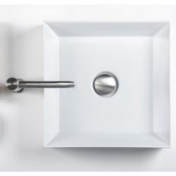 Diametro35 Inox rubinetto miscelatore lavabo canna alta con bocca d'erogazione flessa E0BA0129CINOX