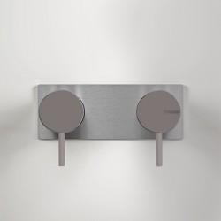 Miscelatore incasso doccia con deviatore 2 vie Z316 Inox Color Zazzeri 3300A401A00AS