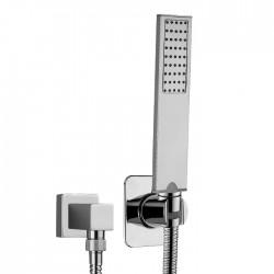 Doccetta duplex quadrata con presa d'acqua separata Flat-One Bossini CA3002
