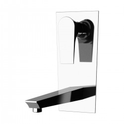 Single lever built-it basin mixer, with vertical wall flange Diva Daniel Rubinetterie DV634