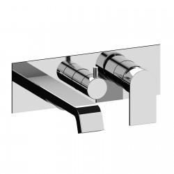 Tolomeo rubinetto miscelatore per vasca incasso con placca a muro Tolomeo Fratelli Frattini 83524-98014