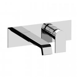 Tolomeo rubinetto miscelatore monocomando lavabo incasso con placca e bocca d'erogazione mm 189 83034