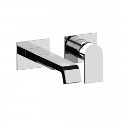 Complete built-in washbasin mixer without pop-up waste Tolomeo 83034A