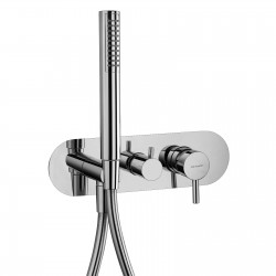 Complete built-in single-lever mixer with 2 way diverter and handshower Pepe 12015