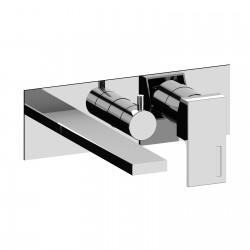 Vita rubinetto miscelatore per vasca incasso con placca a muro 53003