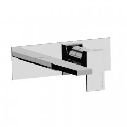 Vita rubinetto miscelatore monocomando lavabo incasso con placca e bocca d'erogazione mm 205 53034