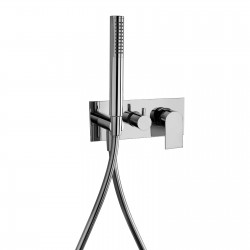 Complete built-in single-lever mixer with 2 way diverter and handshower Tolomeo 83015