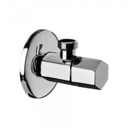 Angle valve hexagonal with ceramic hand valve Daniel Rubinetterie A602