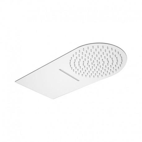 Ultra slim stainless steel mirror polished wall shower head 2 jets Daniel Rubinetterie A564