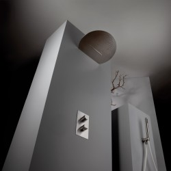 Soffione doccia a doppia funzione acciaio inox Borgia Fratelli Frattini 89607