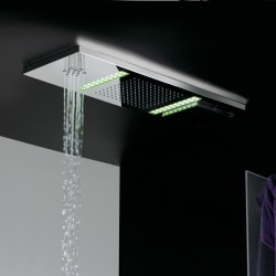 Stainless steel shower three function Gaia Led Fratelli Frattini 55609