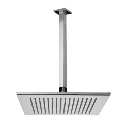Soffione doccia quadrato a soffitto spessore mm 7 Fratelli Frattini 90720 - 90960